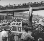 اضراب مصانع فورد